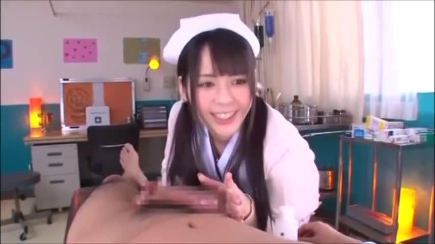【佳苗るか★エッチな美白ギャル動画】清楚系の美人ナースが早漏の治療をしてくれる